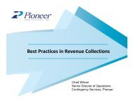 Best Practices in Revenue Collections - the Virginia Municipal League