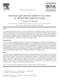 Automatic signal detection applied to