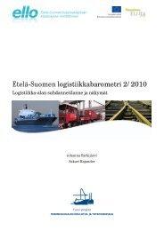 Etelä-Suomen logistiikkabarometri 2/2010 - ELLO