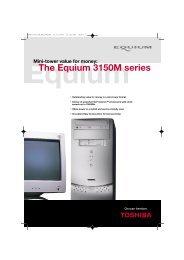Mini-tower value for money: The Equium 3150M series - Toshiba