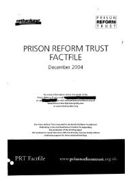 PRISONREFORMTRUST FACTFILE