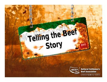 Telling the Beef Story