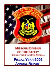 FISCAL YEAR 2006 ANNUAL REPORT - Division of Fire Safety