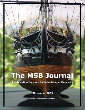 The MSB Journal - Model Ship Builder