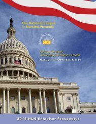 Advancing the Nation's Health - National League for Nursing