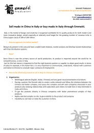 Sell made in China in Italy or buy made in Italy ... - emmetti web site