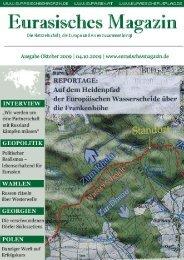 Eurasisches Magazin – Oktober 2009 · Seite 1 © Eurasischer Verlag ...