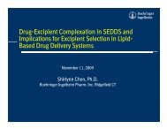 Drug-Excipient Complexation in SEDDS and Implications for ...