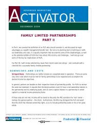 FAMILY LIMITED PARTNERSHIPS PART II - CPS Insurance