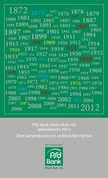 Geschäftsbericht PSD Bank Rhein-Ruhr eG 2012