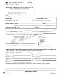 Print or download the Release of Information form