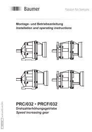 PRC/032 • PRCF/032 - Baumer Hübner