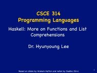 CSCE 314 Programming Languages - TAMU Computer Science ...