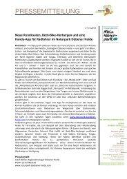 Pressemitteilung vom 30.10.2012 - Gemeinde Muldestausee