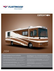 2004 Fleedwood Expedition Flyer PDF with Floorplans and Specs