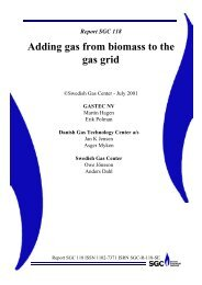 Adding gas from biomass to the gas grid - SGC