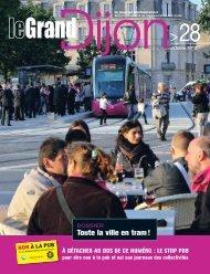 magazine Le Grand Dijon de septembre - Le Tram