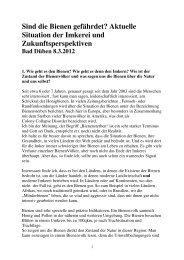 Sind die Bienen gefährdet. Bad Düben 2012 - (BUND) Sachsen