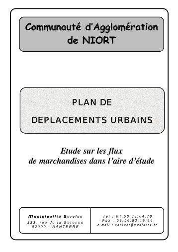 Étude marchandises - Communauté d'Agglomération de Niort