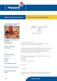 2422 COSHH MSDS Fired Clay - Trademate Home Page