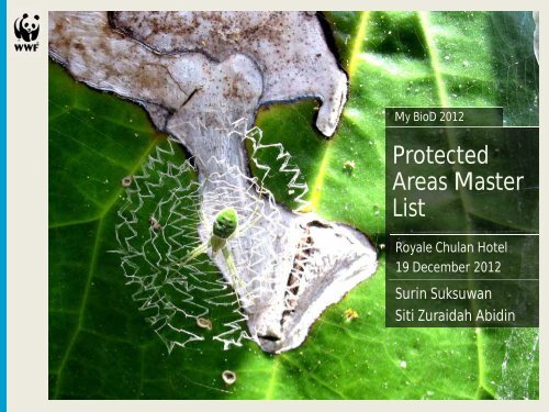 Protected Areas Master List - NRE