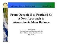 F O i S P l d C From Oceanic S to Peatland C: A ... - LAWR - UC Davis