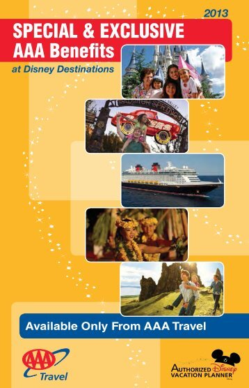 Download the 2013 Disney Destinations AAA Benefits Guide