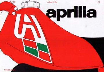 prospectus officiel Aprilia - Vintage Aprilia