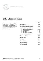 BBC Classical Music Catalogue - BBC Radio International
