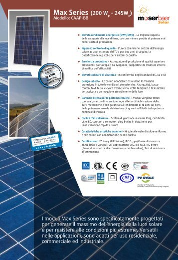 Max Series - Moser Baer Solar Limited