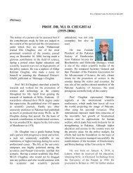 prof. dr. mid chughtai (1919-2006) - Pakistan Academy of Sciences