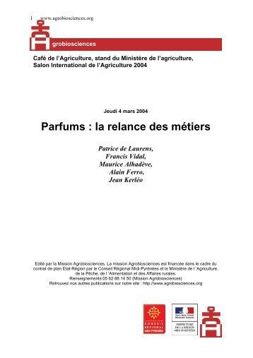Parfums : la relance des métiers. - 248 ko - Mission d'animation des ...