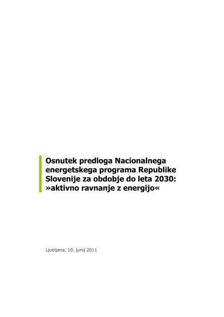 Aktivno ravnanje z energijo - Ministrstvo za gospodarski razvoj in ...