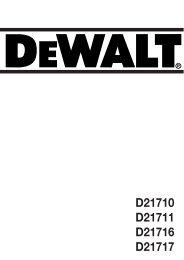 D21710 D21711 D21716 D21717 - Service - DeWALT