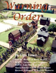 Warning Orde r - Wasatch Front Historical Gaming Society