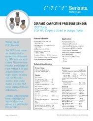 70CP Series Data Sheet (PDF) - Sensata