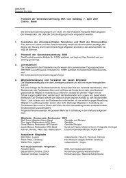 SKR/SCR Protokoll GV 2001 Protokoll der Generalversammlung ...