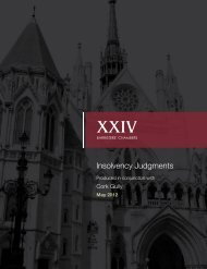 Insolvency Judgments - Support