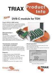 Triax product info - DVB-C modul TDH [DK - GB].indd