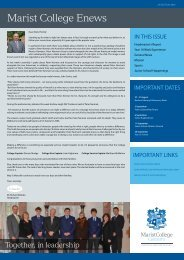 P&F News - Marist College Canberra