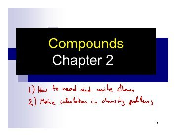 Compounds Chapter 2 Compounds Chapter 2