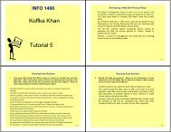 Koffka Khan Tutorial 5 - UWI St. Augustine