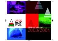 Annual Report 2003 - 2004 - Urdd Gobaith Cymru