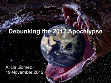 Debunking the 2012 Apocalypse (pdf).