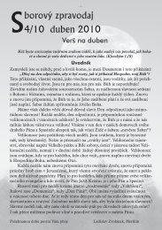 Sborový zpravodaj 4/10 duben 2010 - Evangelický sbor v Merklíně u ...