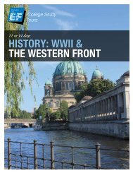 HISTORY: WWII & THE WESTERN FRONT - EF College Study Tours