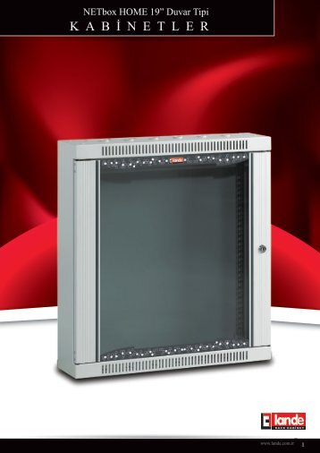 NETbox Home Duvar Tipi Kabinetler W600xD150 Pdf ... - LANDE