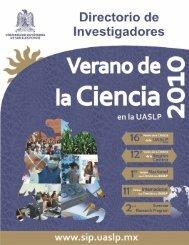 Verano de la Ciencia en San Luis Potosí 2010 - Universidad ...