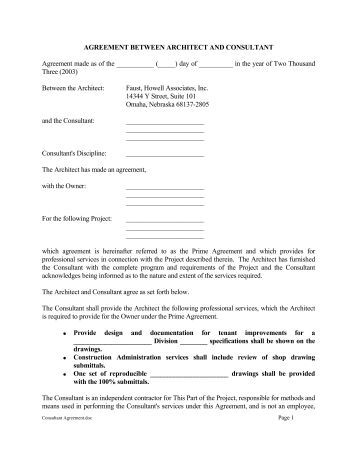 Consulting Agreement Form Consulting Agreement Form Investment