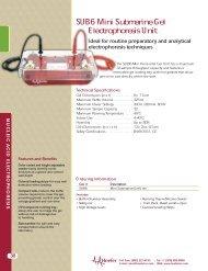 SUB6 Mini Submarine Gel Electrophoresis Unit